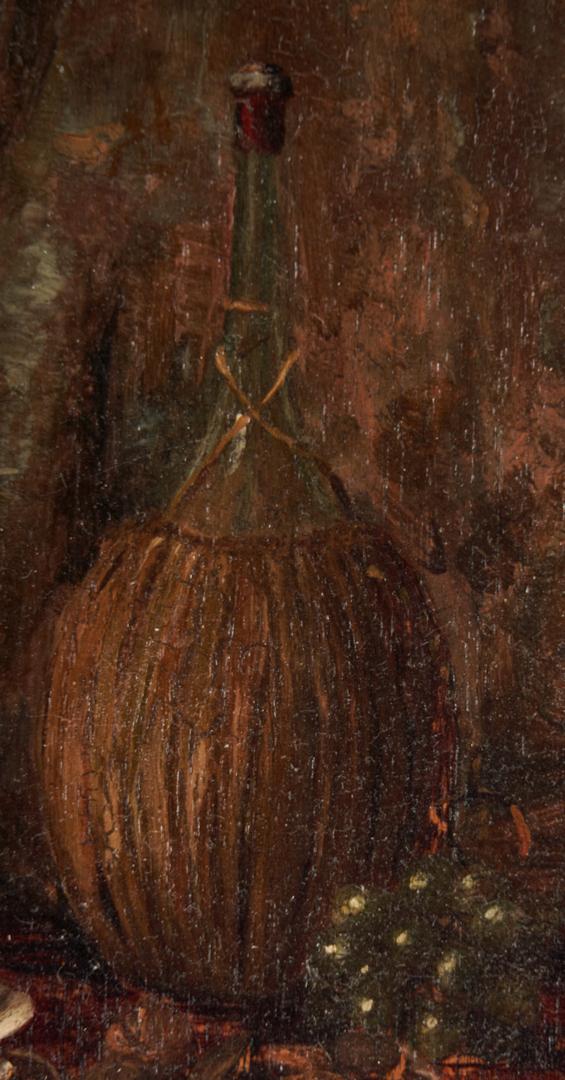 Lot 175: Cornelius Hankins O/P, Still Life w/ Wine Bottles