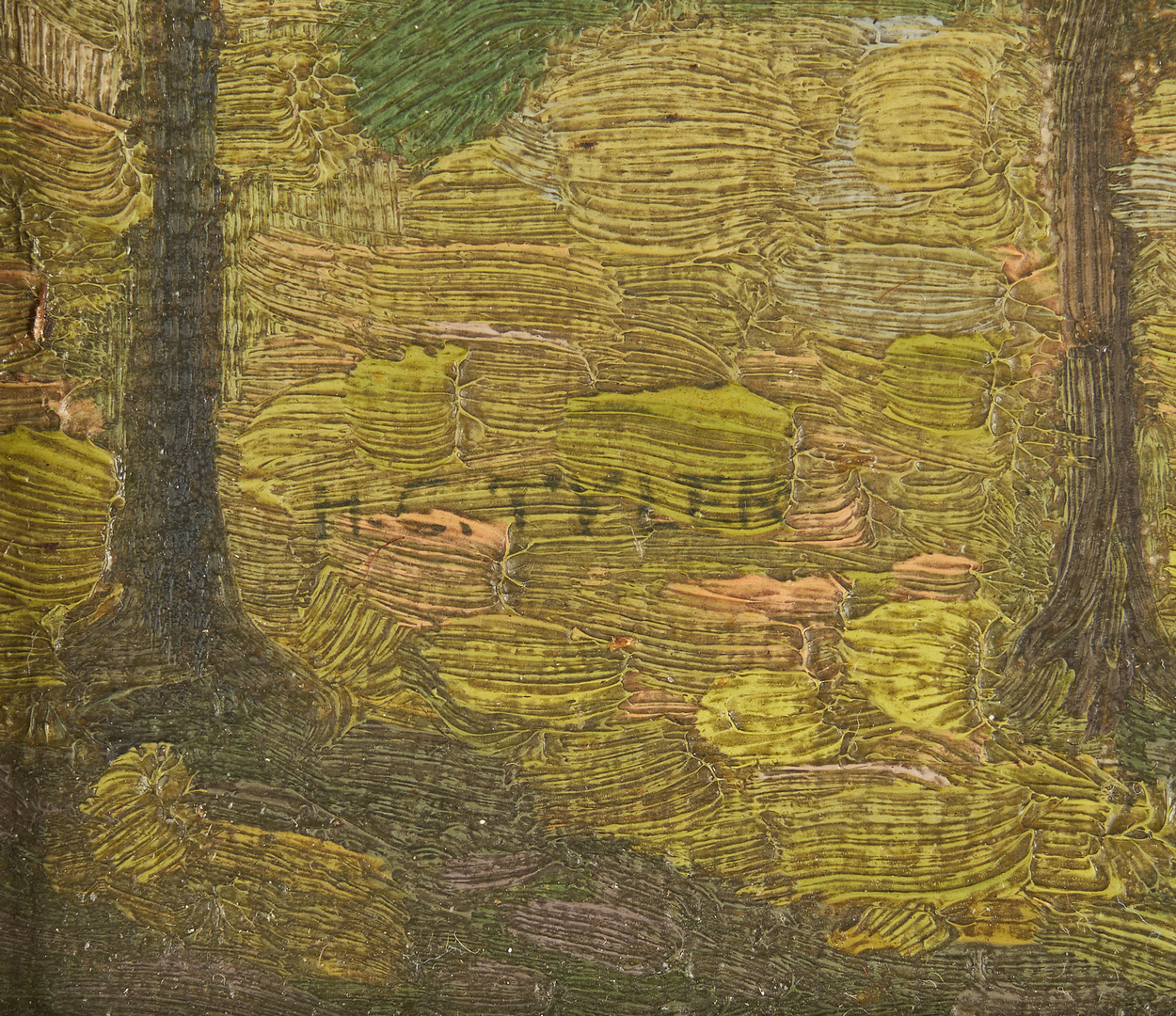 Lot 177: Hugh Tyler O/B Landscape w/ Cows, poss. TN