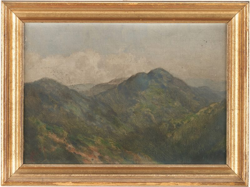 Lot 178: TN Mountain O/B Landscape by Charles Krutch