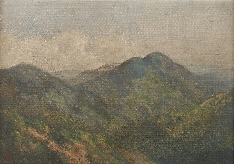 Lot 178: TN Mountain O/B Landscape by Charles Krutch