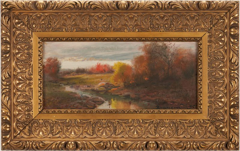 Lot 179: Lloyd Branson Oil on Cardstock Landscape Painting