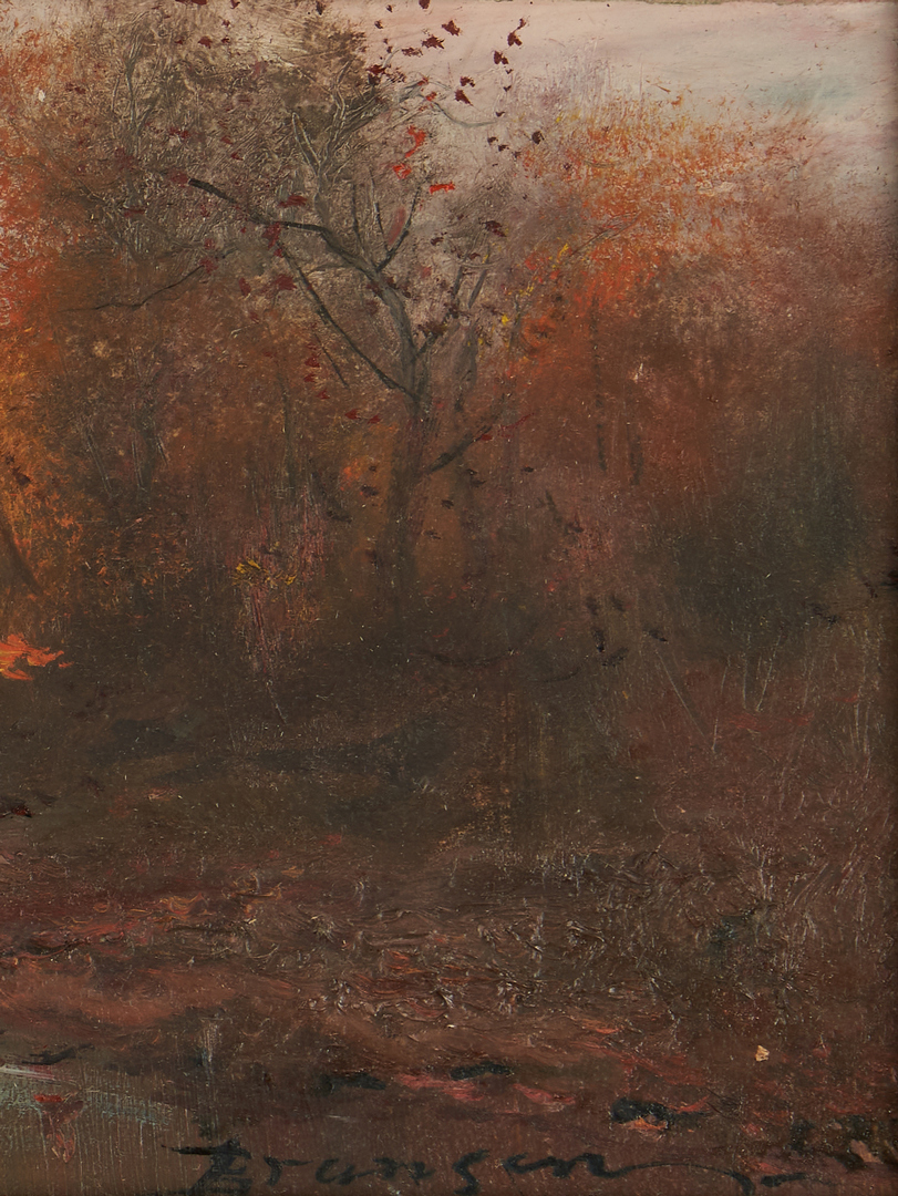 Lot 179: Lloyd Branson Oil on Cardstock Landscape Painting