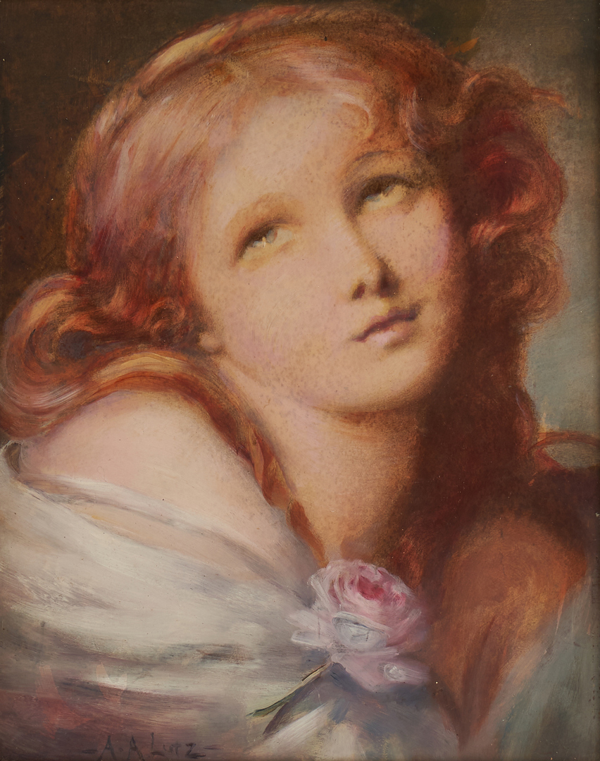 Lot 181: Adelia A. Lutz Portrait Painting