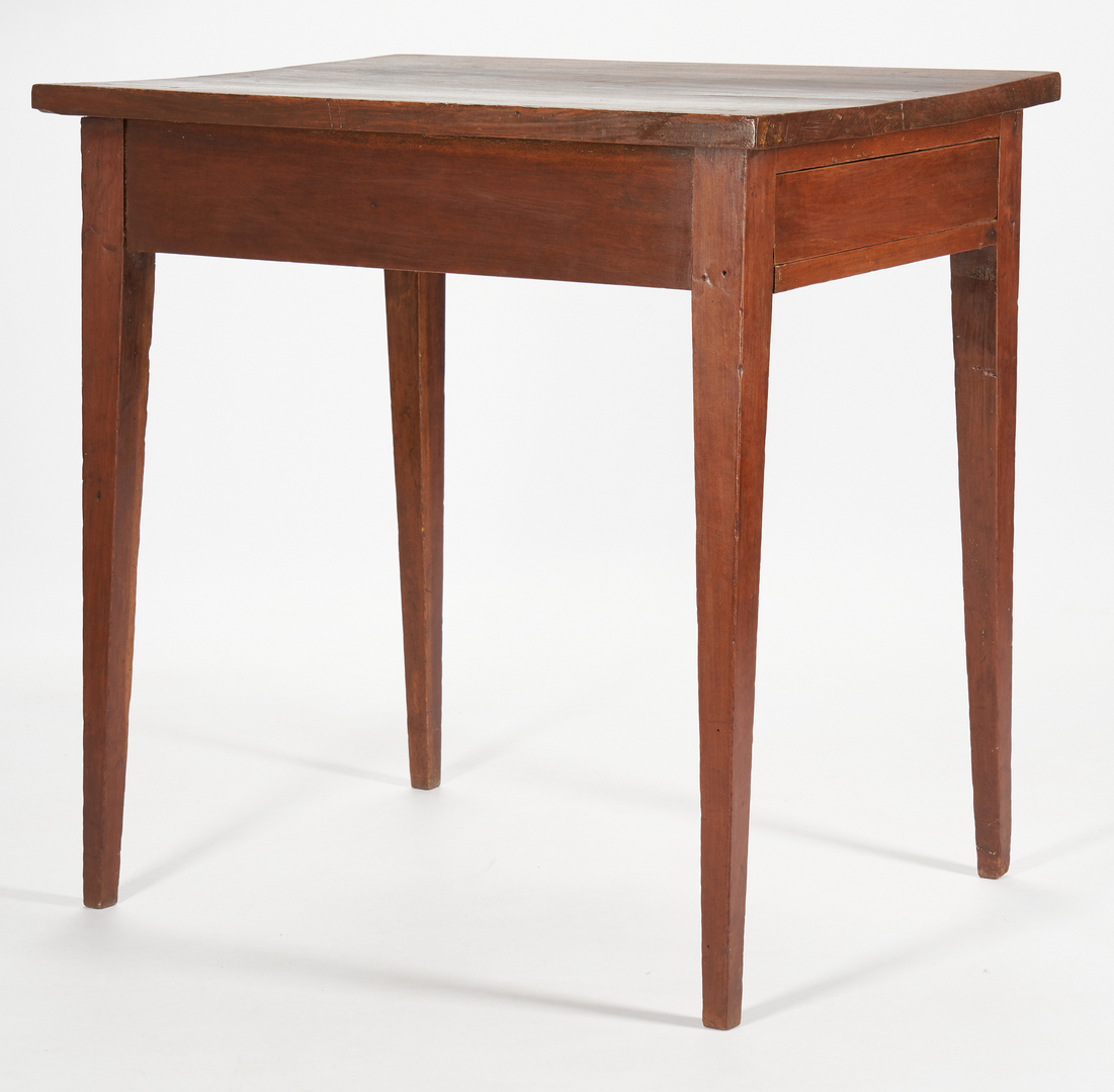 Lot 187: Middle TN Tapered Leg Table w/ Hidden drawer