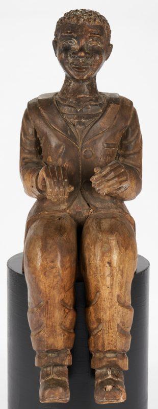 Lot 198: Black Americana figure, poss. Dutreuil Barjon, New Orleans