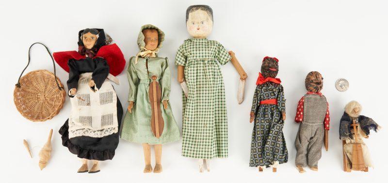Lot 199: 6 Southern Folk Art Dolls, incl. Helen Bullard