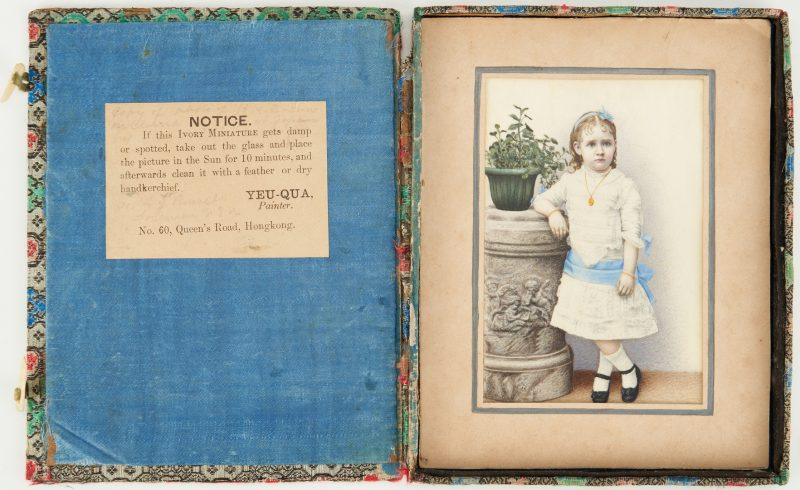 Lot 1: Yeu-Qua Portrait Miniature of Kate Freeman Clark