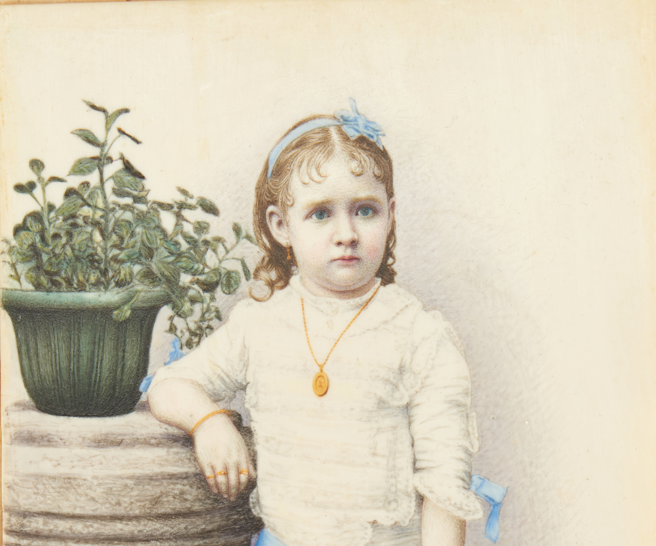 Lot 1: Yeu-Qua Portrait Miniature of Kate Freeman Clark