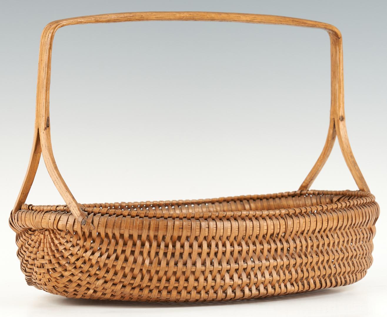 Lot 200: Forked Handle Wythe Co. VA Oval Basket