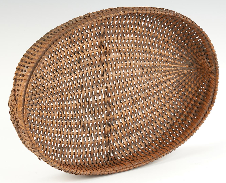 Lot 201: 2 Wythe Co. VA Oval Flat Baskets, Inc. Fork Handle