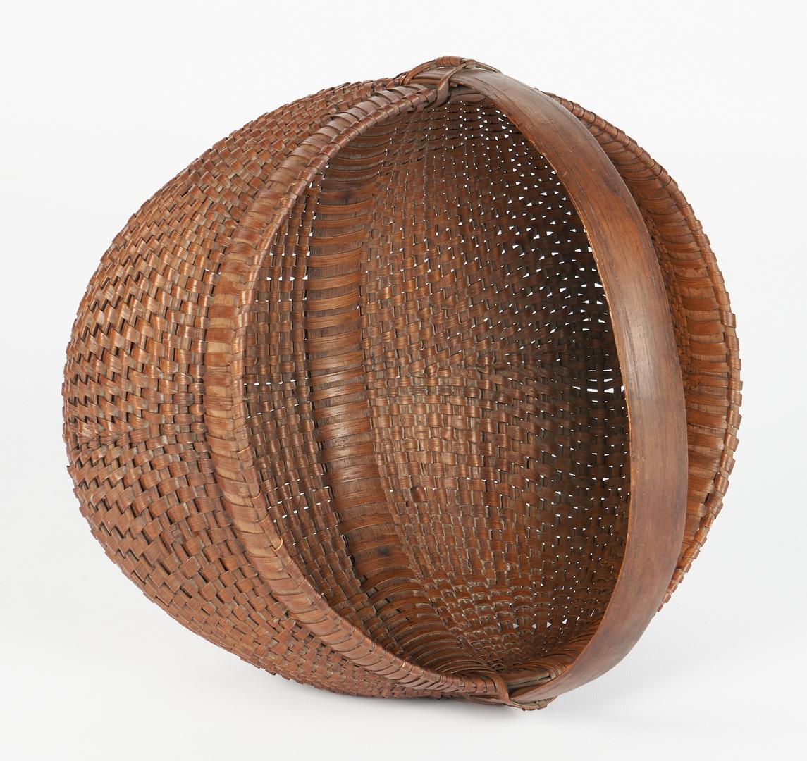 Lot 202: Three (3)2 Wythe Co Baskets & 1 Southern Buttocks Basket