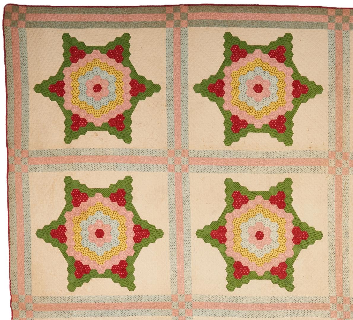 Lot 206: TN or GA Honeycomb Pattern Quilt