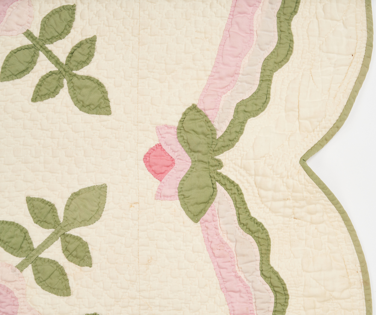 Lot 208: Brackney Family Quilt w/ tulip & 2 quilt mats