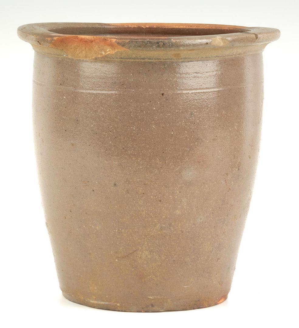 Lot 211: 2 Greene County, TN Pottery Jars, incl. Exhibited Harmon