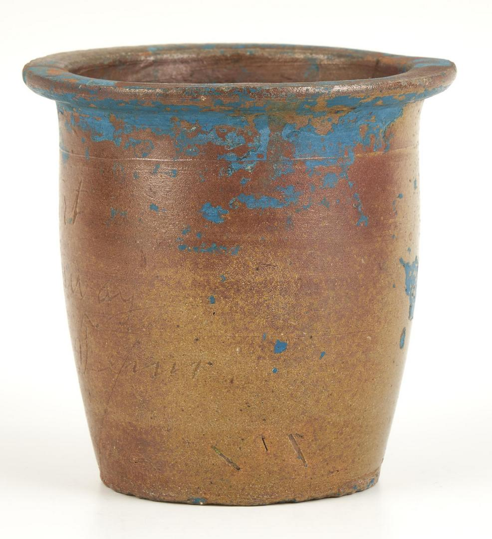 Lot 213: East TN Pottery Creampot, Charles Everhart
