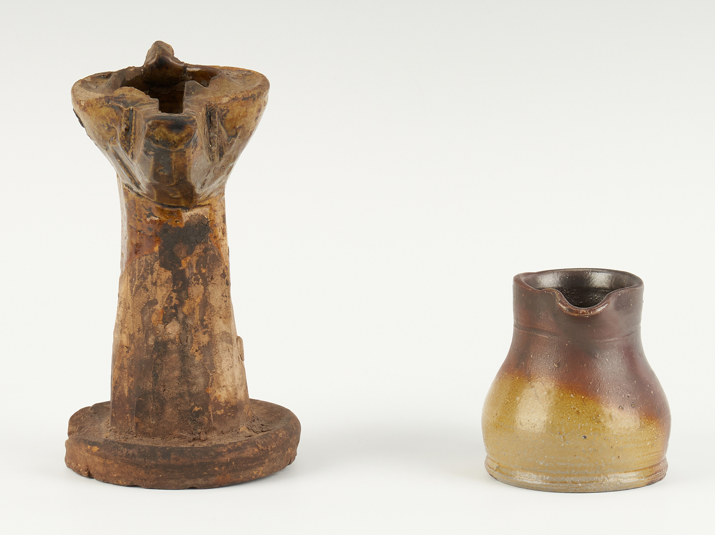 Lot 214: Grouping of Middle Tennessee Stoneware Including Grease Lamp, Miniatures