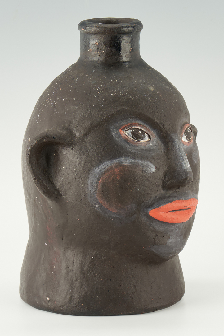 Lot 223: NC Kennedy Pottery Painted Face Vessel