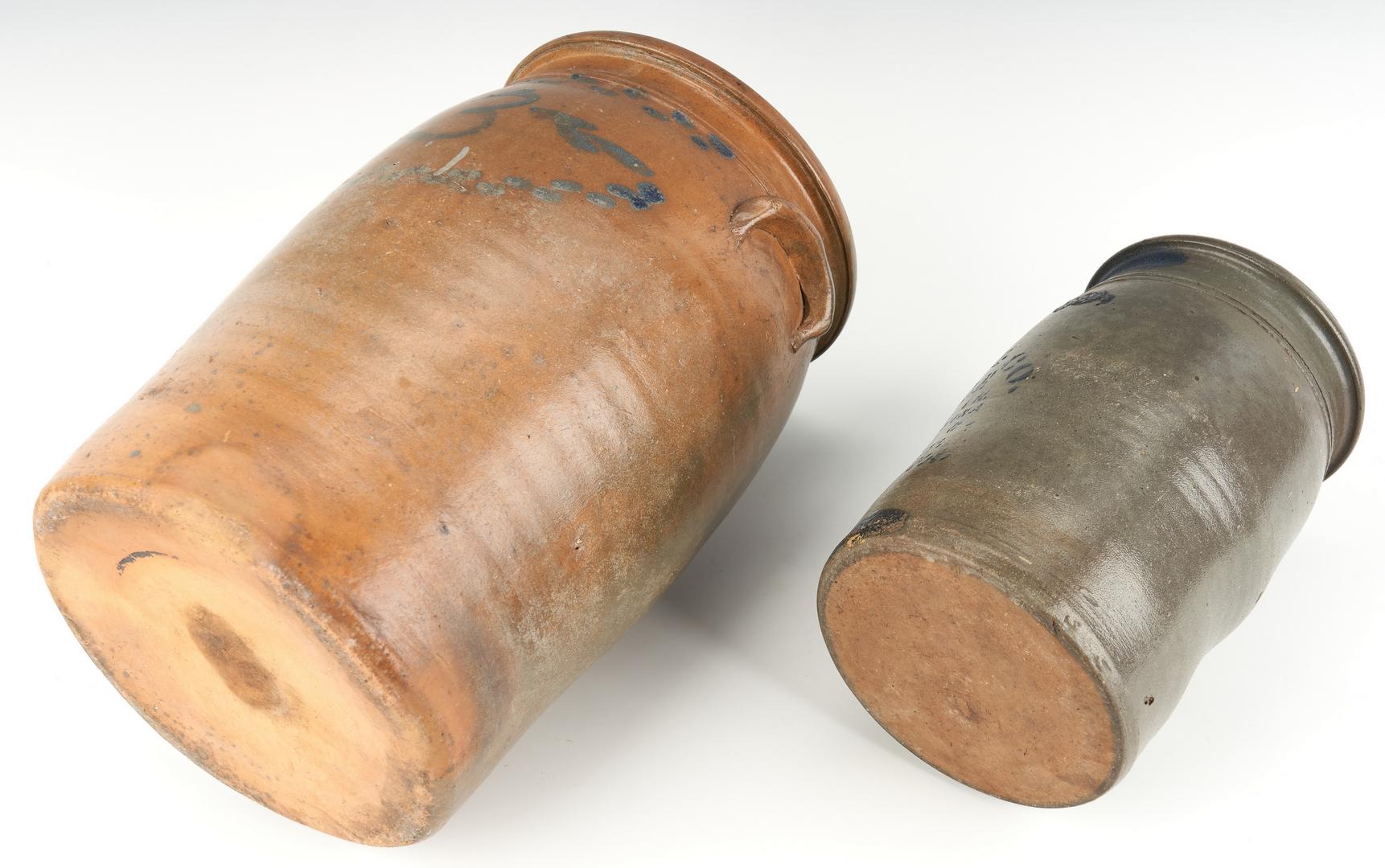 Lot 224: 2 VA Stoneware Jars w/ Cobalt, incl. H.J. Miller