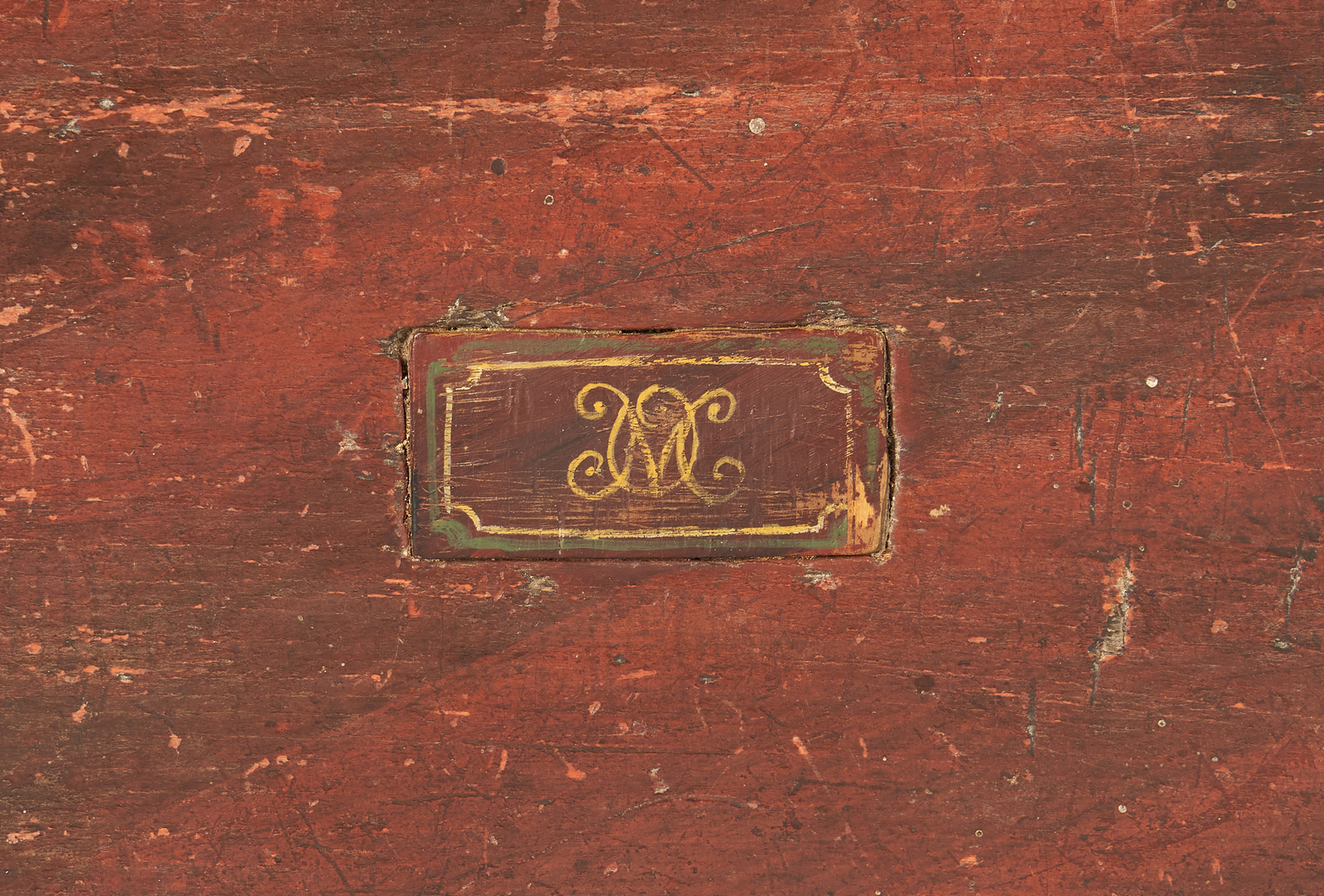 Lot 226: New England Painted Box on Stand