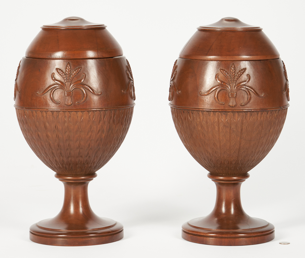 Lot 228: Pair Large Adam Style Knife Urns