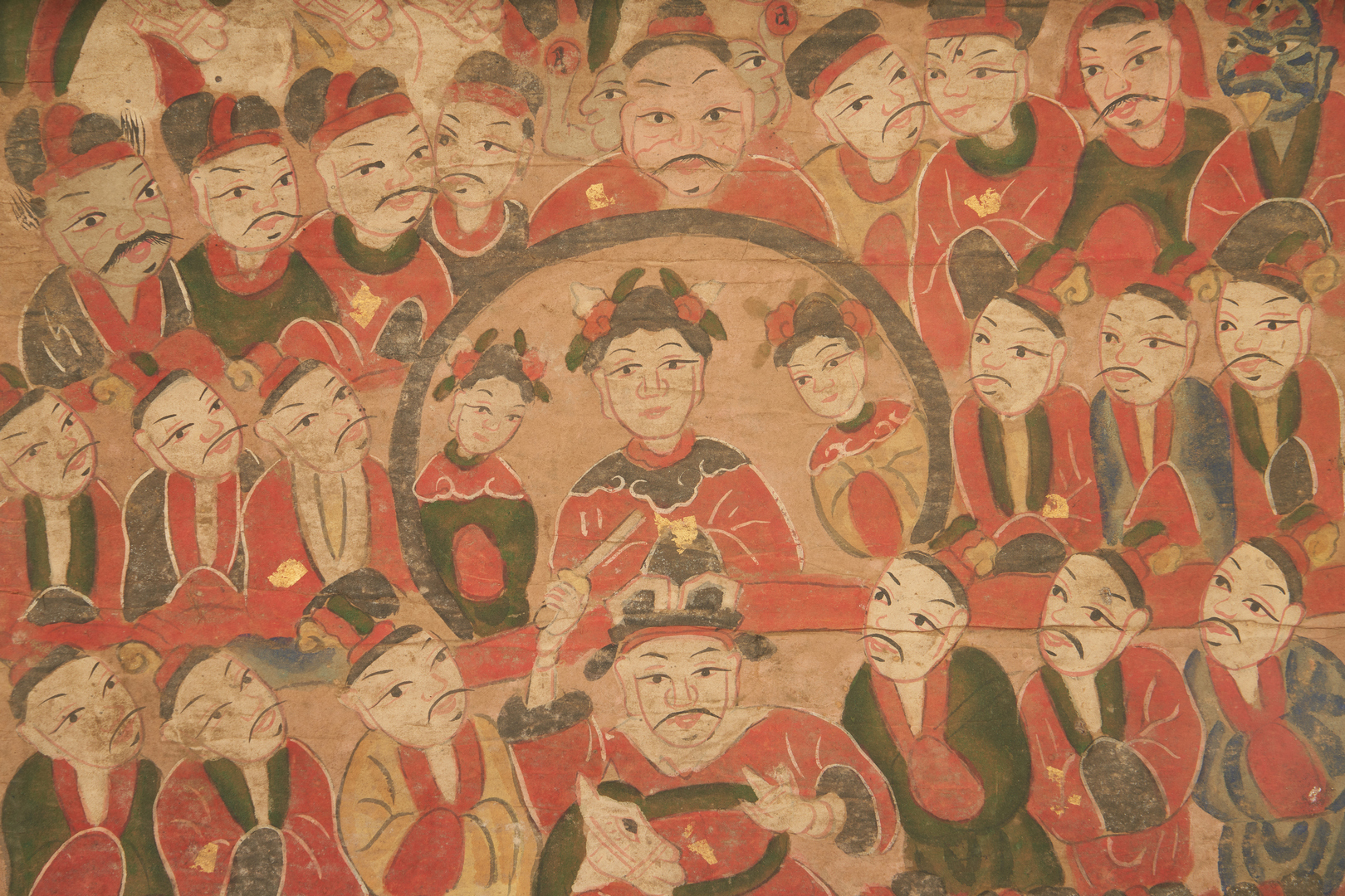 Lot 22: 8 Chinese Yao Ceremonial Temple Scroll Paintings
