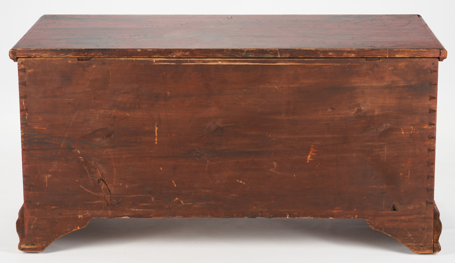 Lot 231: American Painted Blanket Chest with Fraktur