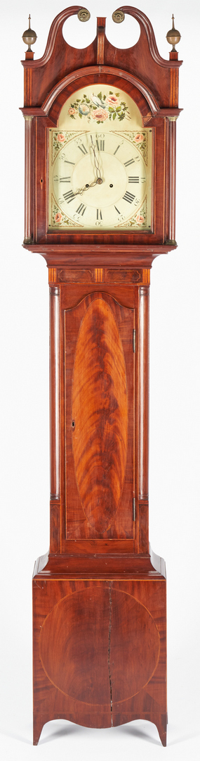 Lot 233: American Federal Inlaid Tall Case Clock, Poss. NJ