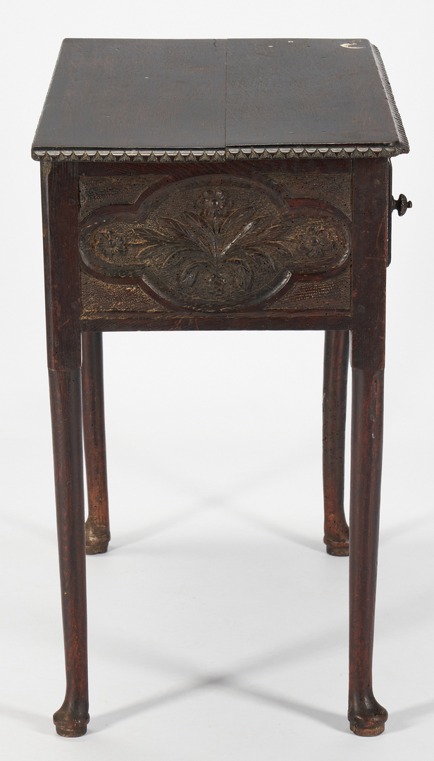 Lot 236: Carved English Spice Chest and Dressing Table