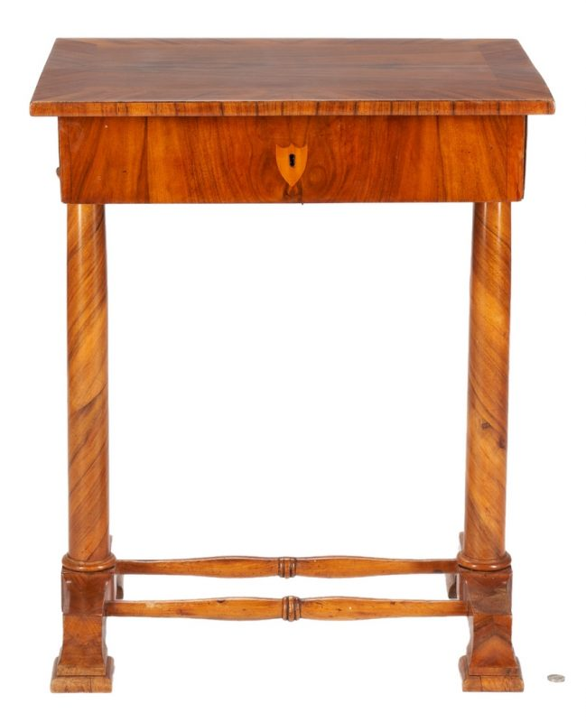 Lot 239: Austrian Biedermeier Occasional or Writing Table