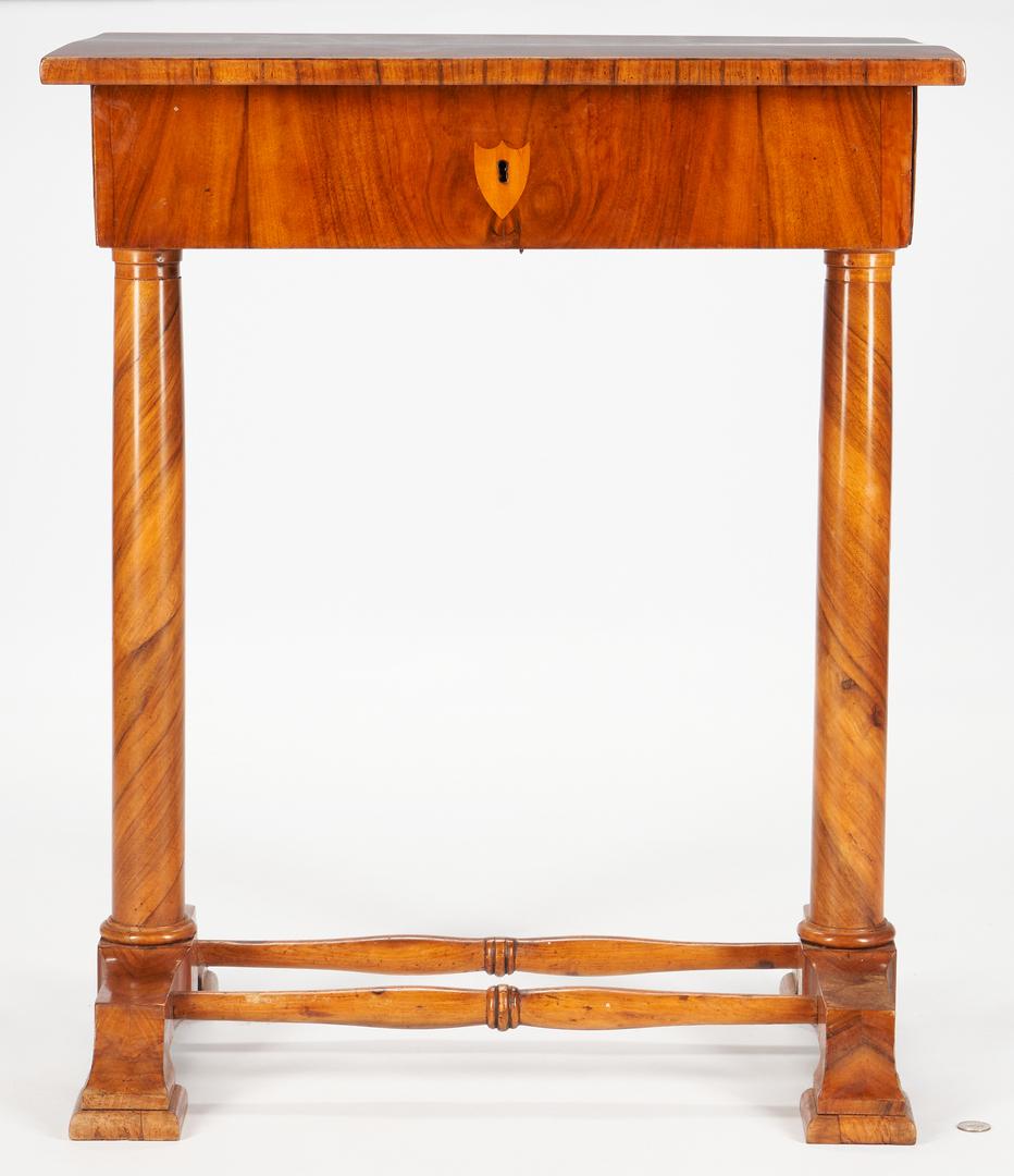 Lot 239: Austrian Biedermeier Occasional or Writing Table
