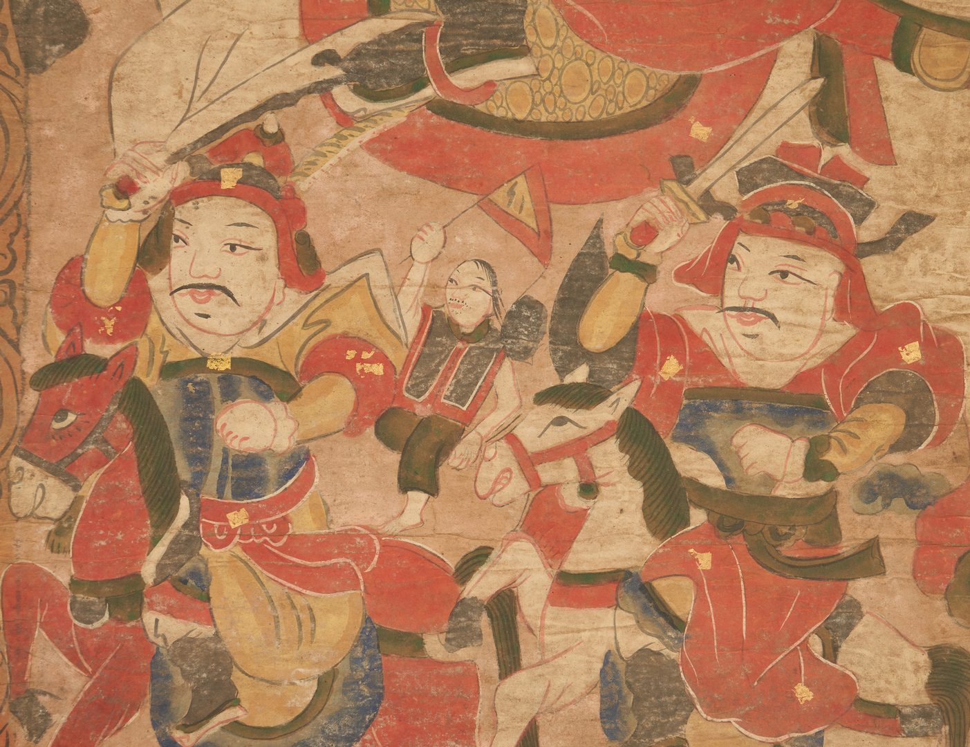 Lot 23: 9 Chinese Yao Ceremonial Temple Scroll Paintings