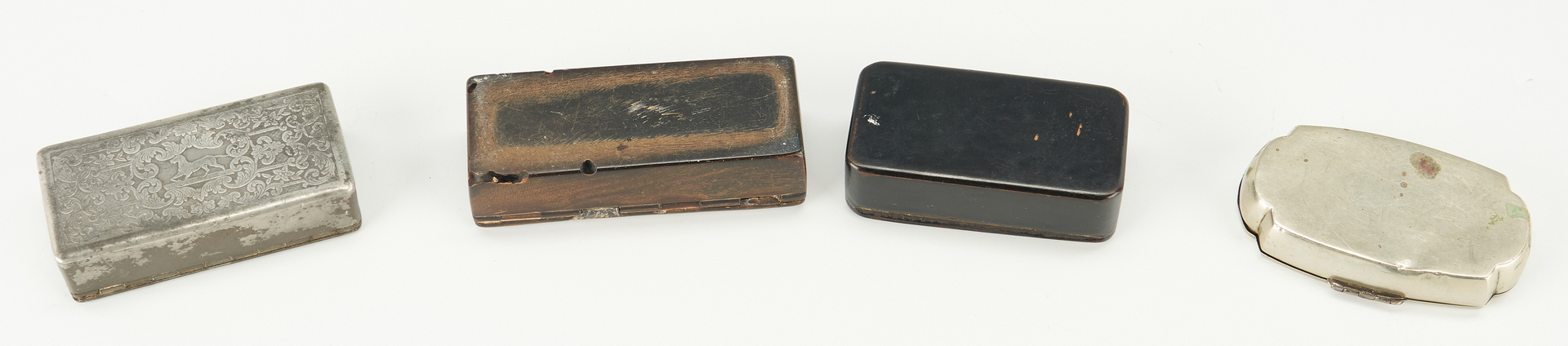 Lot 241: 10 Snuff, Tobacco & Spice Boxes, Various Materials