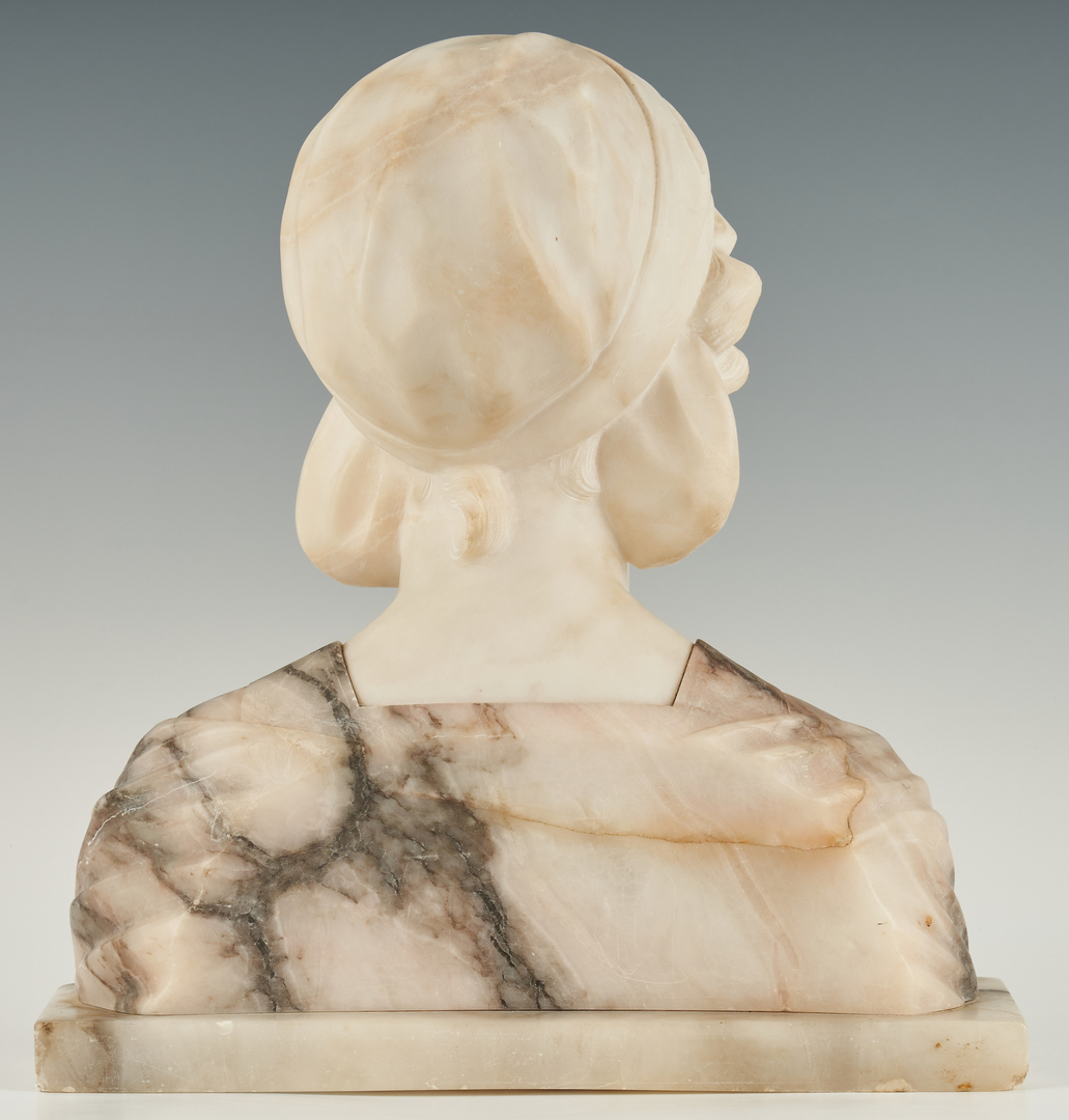 Lot 244: European Marble Bust of a Woman