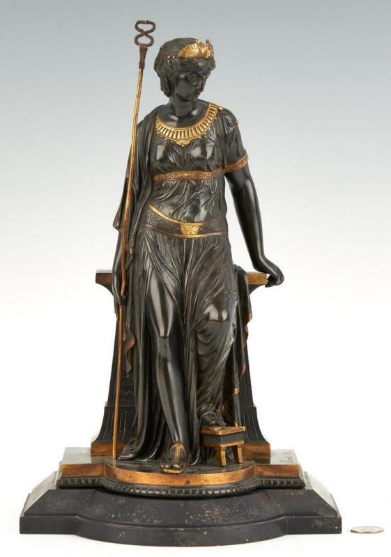 Lot 246: Bronze Cleopatra Sculpture signed E. Bouret