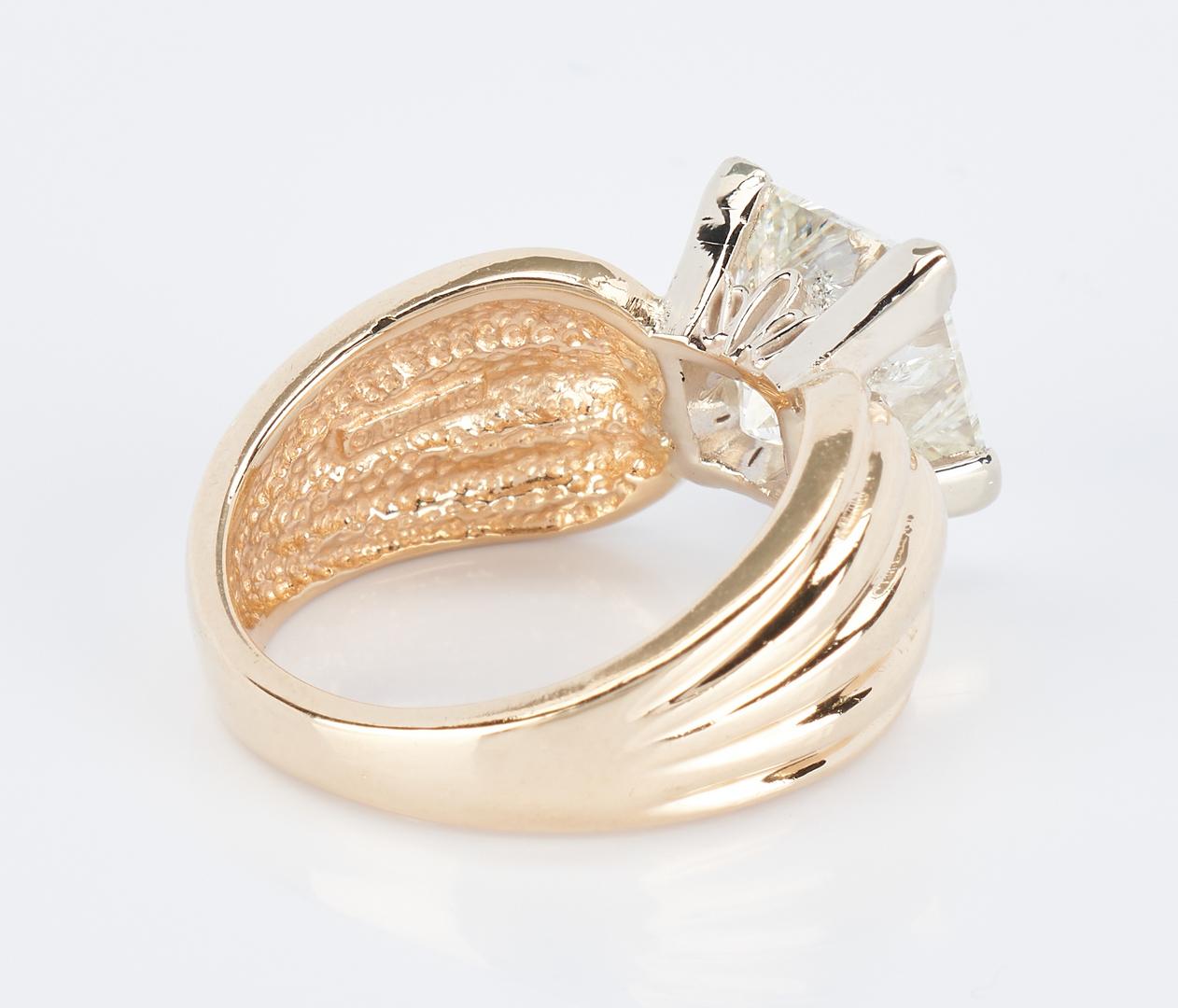 Lot 251: Ladies 14K 3.07 Carat Diamond Ring