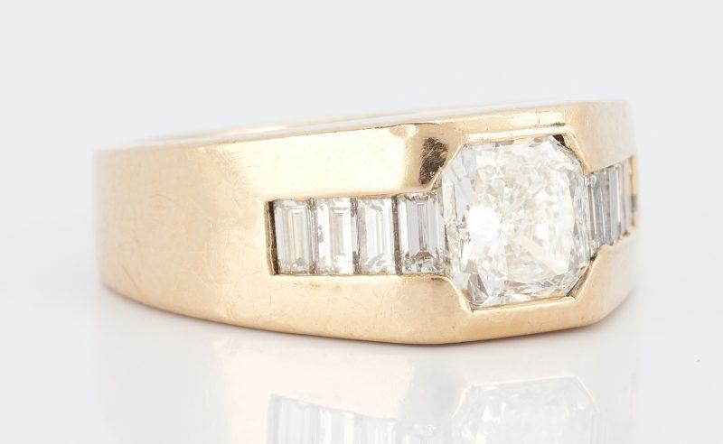 Lot 253: Men's 14K Gold & Diamond Ring, 1.5 Carats