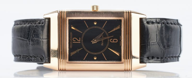 Lot 263: Jaeger LeCoultre 18K Rose Gold Reverso Wrist Watch