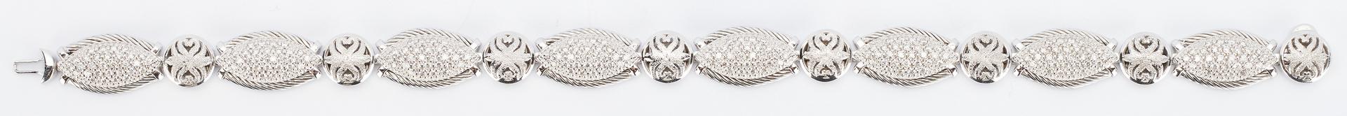 Lot 266: Charriol 18K Gold and Diamond Bracelet