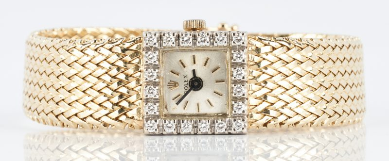 Lot 267: Ladies 14K Diamond Rolex Wristwatch