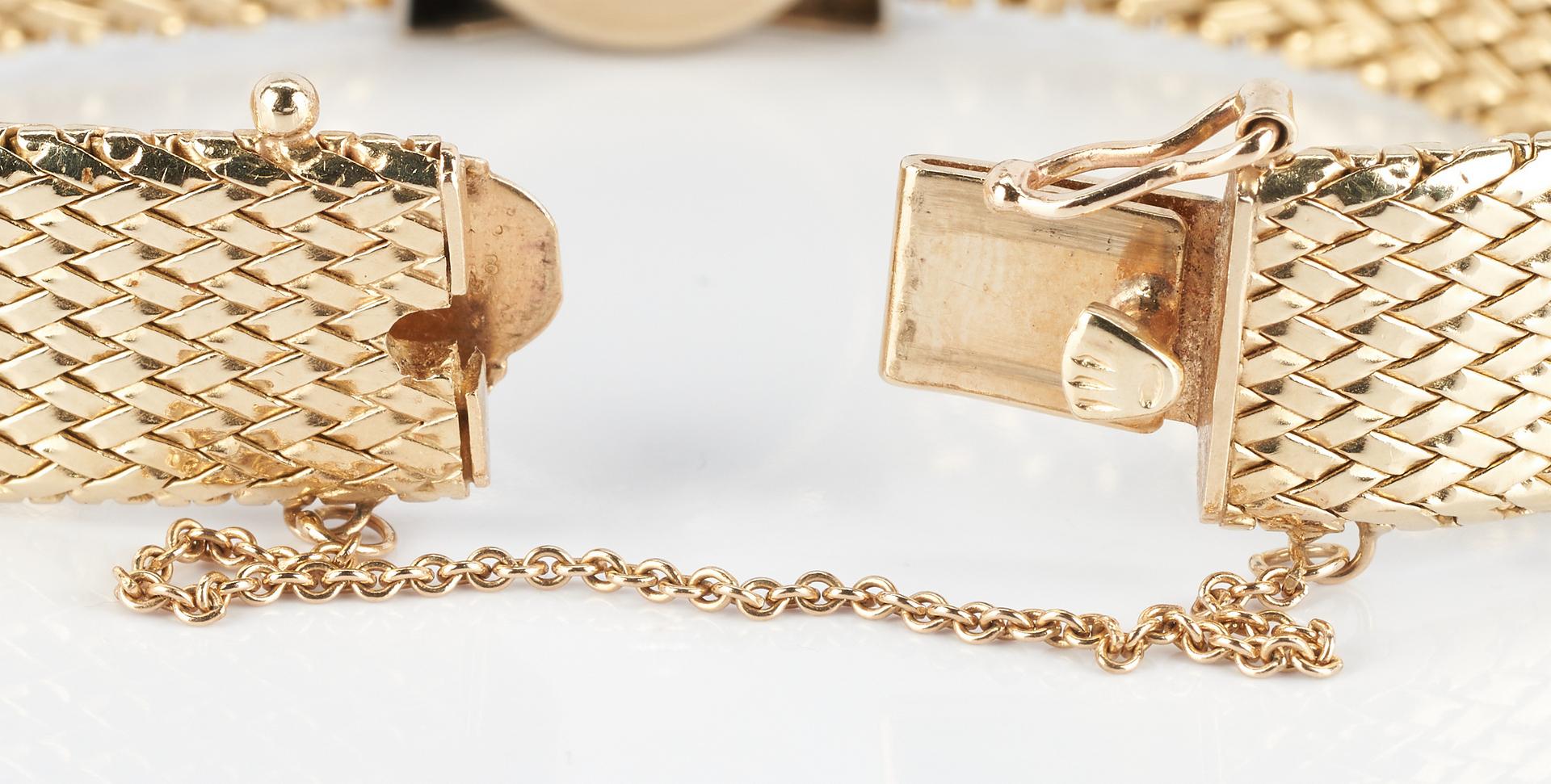 Lot 267: Ladies 14K Diamond Rolex Wristwatch