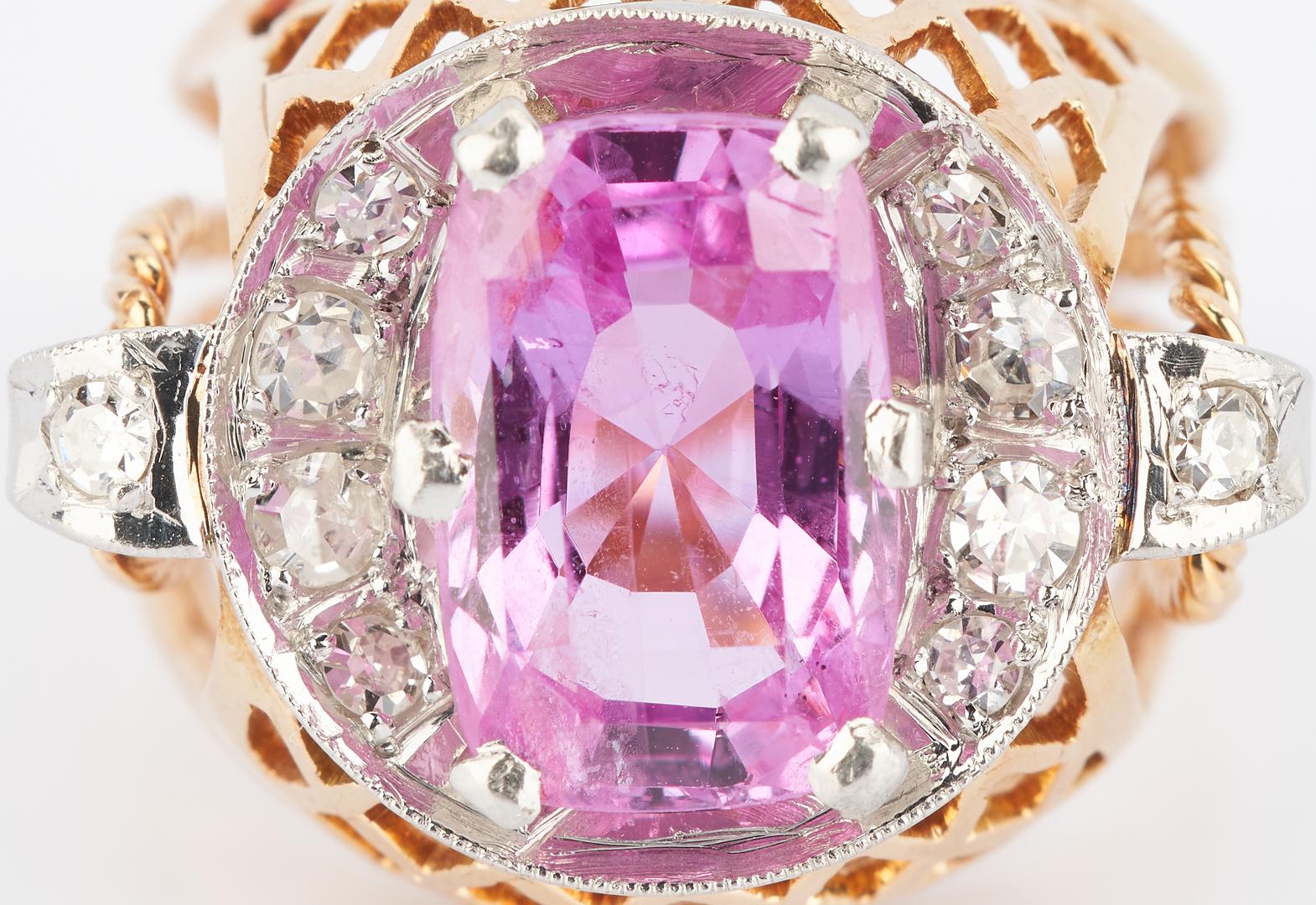 Lot 268: Ladies 14K Pink Sapphire Ring