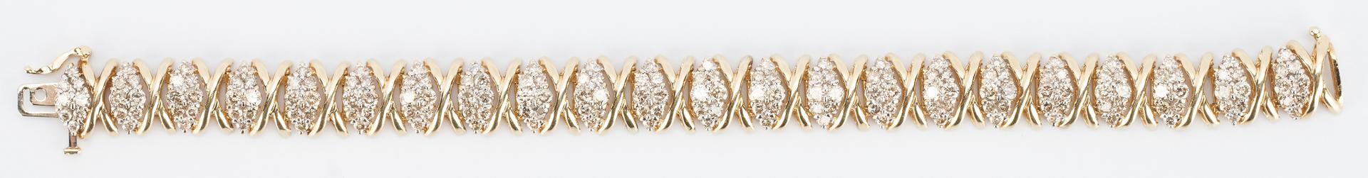 Lot 272: 14K Diamond Bracelet, XO Design