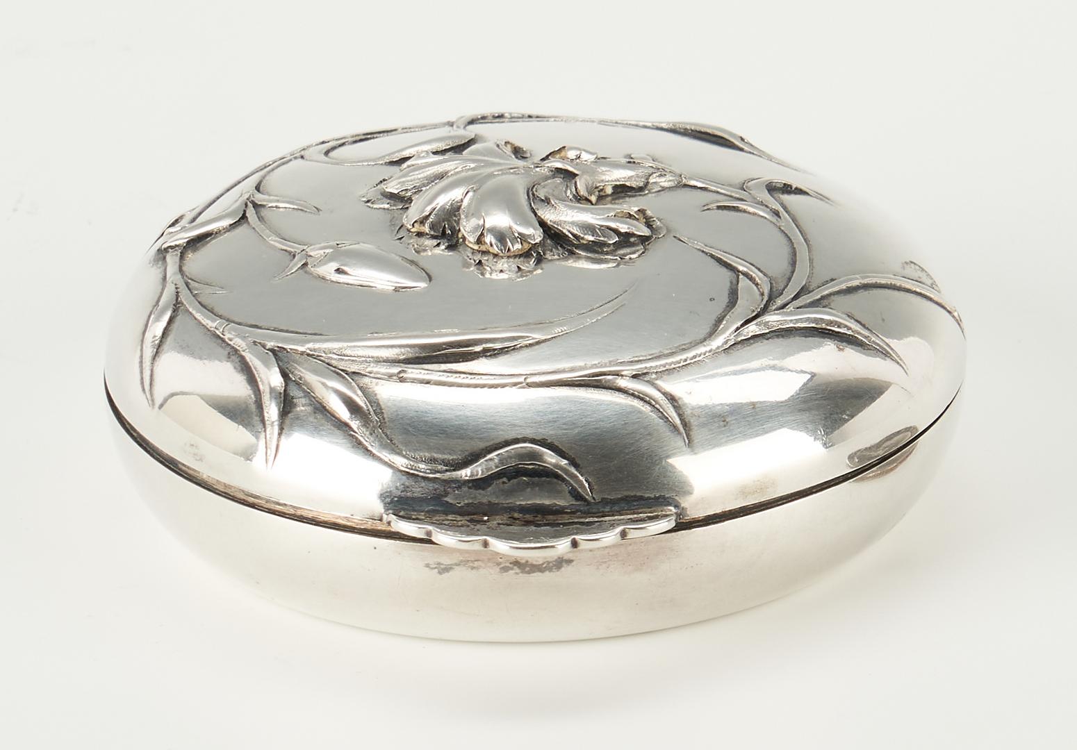 Lot 275: Art Nouveau .800 Silver Compact, Wolfers Freres