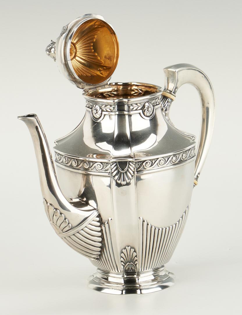 Lot 277: German .800 Silver Tea Service