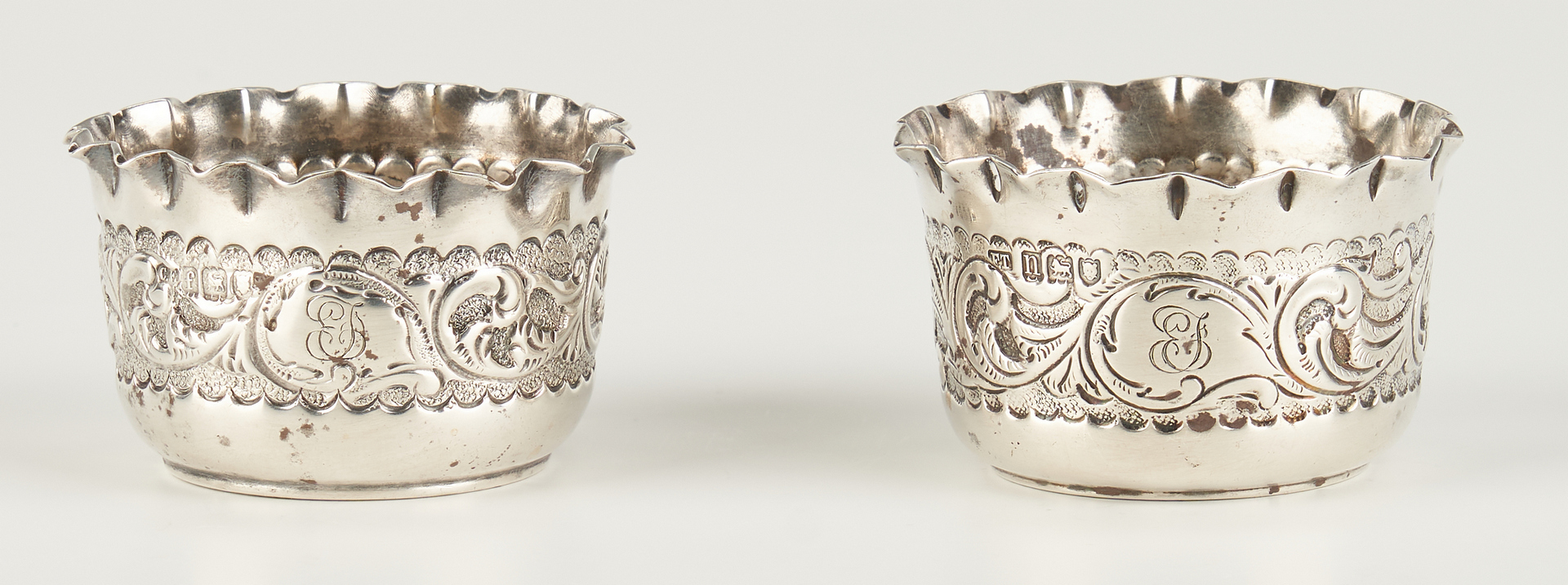 Lot 278: 4 English Sterling Silver Items, incl. Candlesticks