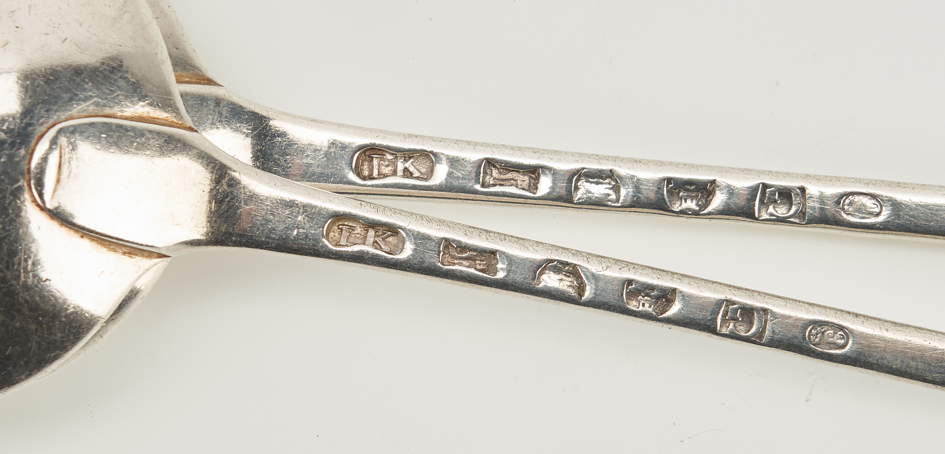 Lot 279: 7 British Sterling Stuffing, Berry and Tablespoons
