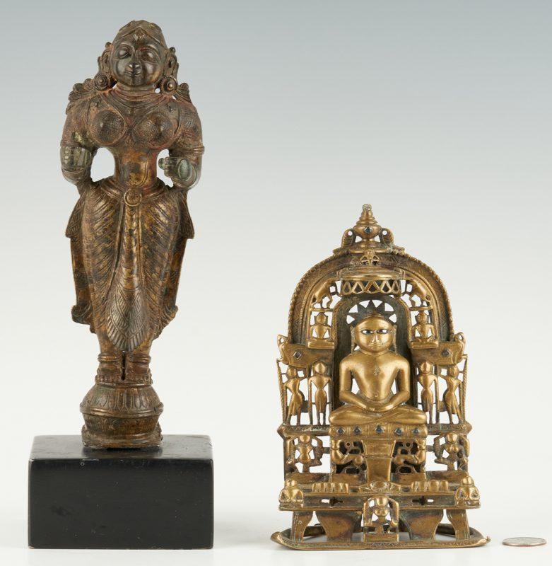 Lot 27: Bronze Yakshi and Jain Shrine ex-Simon Kriger