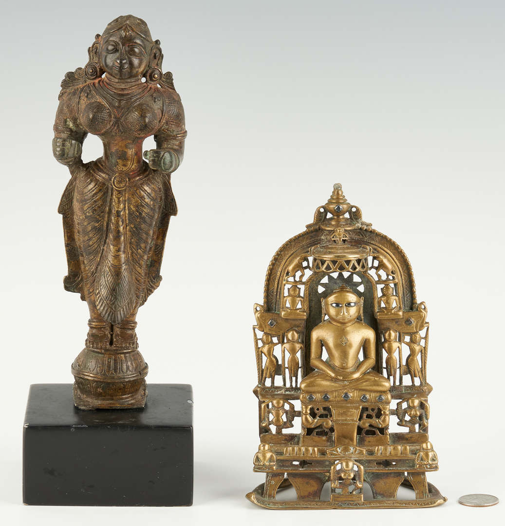 Lot 27: Bronze Yakshi and Jain Shrine ex-Simon Kriger