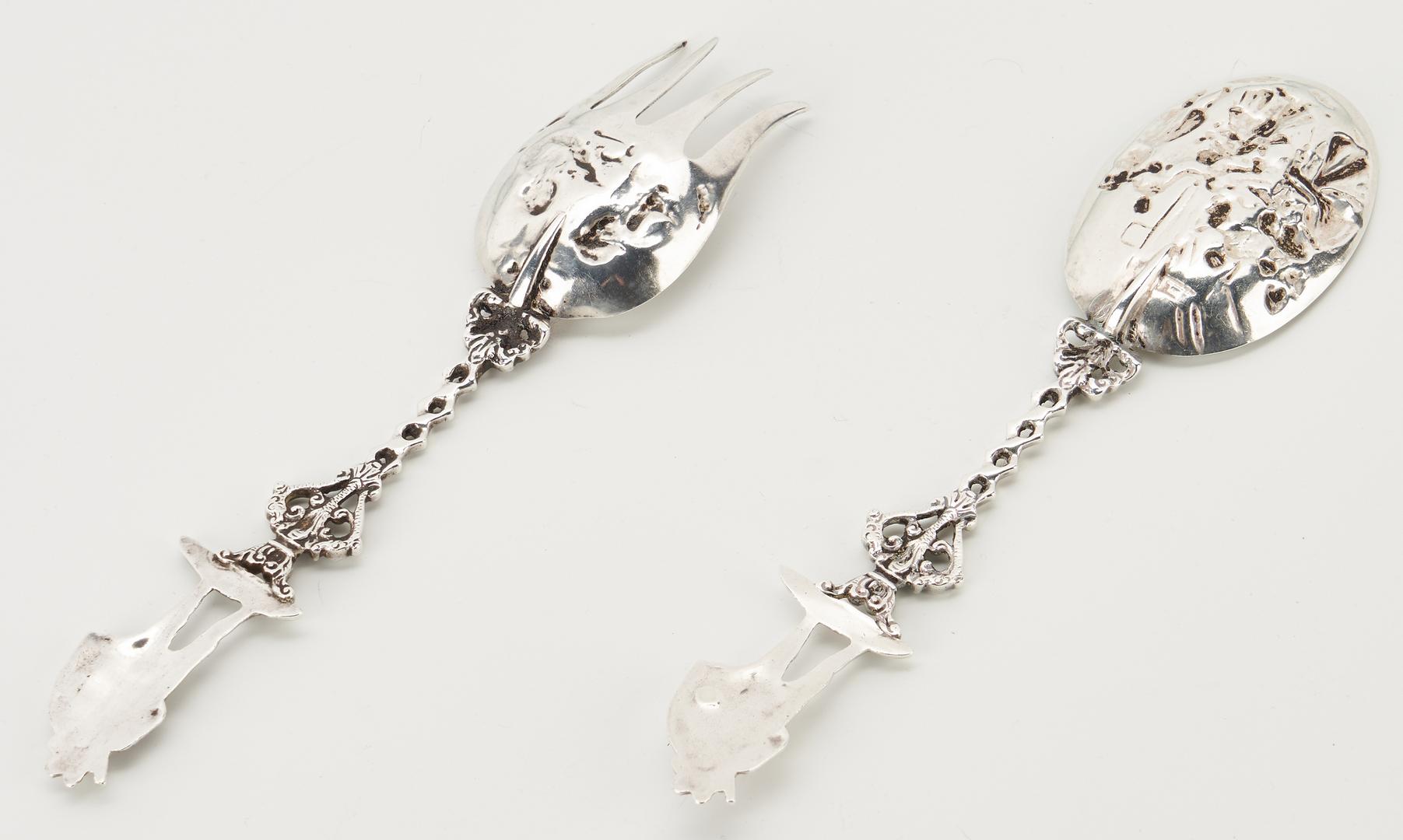Lot 282: 11 Pcs. Continental Silver incl. Dutch Figural Spoons