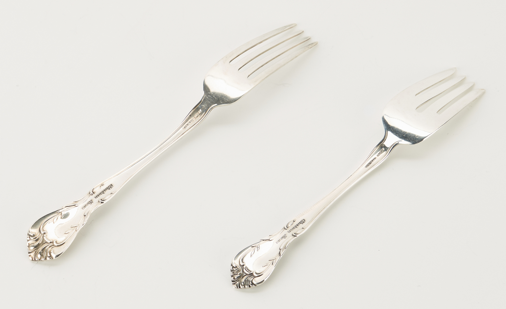 Lot 286: Alvin Sterling Flatware Chateau Rose, 58 pcs.